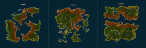 New gamma islands - red overlay means no build/no terraform areas