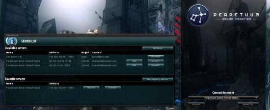 Ingame server browser